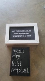 Wall Art / NEW- May this house have joy - wash dry fold repeat in Fort Polk, Louisiana