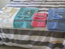 Set of 12 Assorted Bath & Hand Towels, & Washcloths.  One set never used. Great Condition in Lakenheath, UK