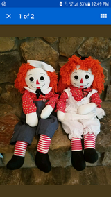 Authentic Ragedy Ann and Andy Doll set life size in Lawton, Oklahoma