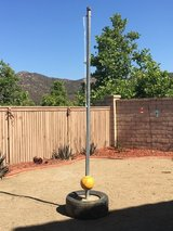 Tether ball and pole in Lake Elsinore, California