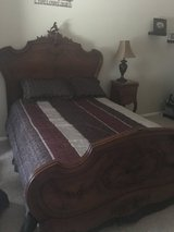 Full size Antique Bed with mattress and box springs in excellent condition. It was in a spare be... in Alamogordo, New Mexico