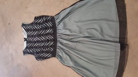 Size 5, Knee-length Dress, Black on Mint Top with Mint Skirt, Speechless in Fort Polk, Louisiana