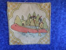 Folk Art Fabric pieces - Indian in Canoe and Mexican folk art Potholders in Oswego, Illinois