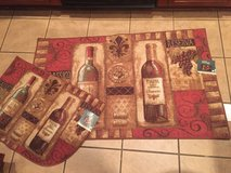NEW, 5x WINE design KITCHEN RUGS in Kingwood, Texas