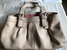 Coach Purse XL Cream SOHO Pleated Large Tote in Batavia, Illinois