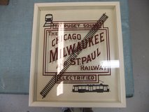 Milwaukee and St Paul Railway Wall Display - Den - Mancave - Fathers Day Gift in Cherry Point, North Carolina