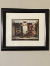 Framed Cafe Print with Bike in Spring, Texas