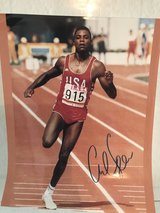 Signed photograph of Carl Lewis, Gold Medalist, 1984 Olympic Games in Stuttgart, GE