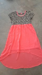 Faded Glory Girls Leopard and Hot Pink Dress Size Large 10/12 in Leesville, Louisiana