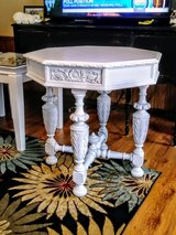 signed circa 1927 antique entryway table in Cherry Point, North Carolina