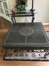 """Leather Cover / Iron Coffee Table (38"""" X 38"""") in Kingwood, Texas"""