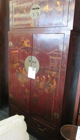 2 Piece Asian Blanket Chest and Armoire in Elgin, Illinois