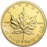2011 Canada 1/10 oz Gold Maple Leaf BU in Fort Polk, Louisiana