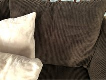 chocolate brown oversized couch& love seat in Hemet, California