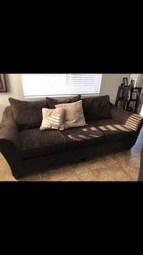 brown oversized couch& love seat in Hemet, California