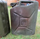 Vintage Metal Fuel Jerry Can 1976 in Lakenheath, UK
