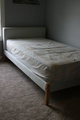 Upholstered Ikea Twin bed in Naperville, Illinois