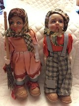 "PAIR OF 7"" VINTAGE DOLLS in Houston, Texas"