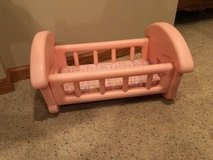 Pink Plastic Play Baby Crib in Naperville, Illinois