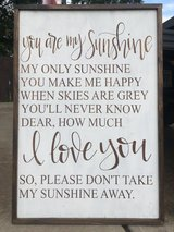 """You are my sunshine"" wooden sign/wall art in Perry, Georgia"