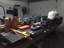 Tool and household goods garage sale in Westmont, Illinois