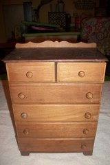Vintage Small Solid Wood Chest of Drawers in Fort Campbell, Kentucky