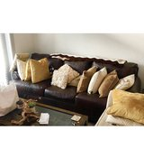 Couch, leather in Camp Lejeune, North Carolina