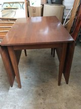 Lammerts Solid Cherry drop leaf dining table extendible gateleg style clean lines vintage in Algonquin, Illinois