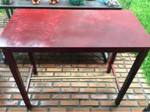 tall red table in Okinawa, Japan