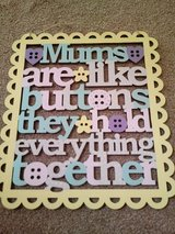 mums are like buttons plaque in Lakenheath, UK