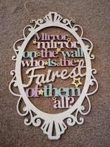 mirror mirror plaque in Lakenheath, UK