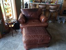 100% leather sofa with chair and Ottoman in Batavia, Illinois