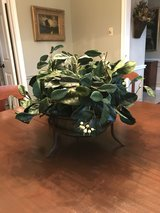 Classic Arrangement in Glass Bowl w Bronze Cast Iron Stand in The Woodlands, Texas