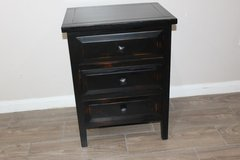Distressed Night Stand (black) in CyFair, Texas