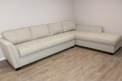 H.M. Richards Creme Sectional Sofa in Kingwood, Texas