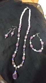 Purple Beaded Jewelry Set in Hinesville, Georgia