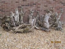 LOT of 12 Original DRIFTWOOD pieces with 2 having carved faces. Selling as a Lot ONLY in Lakenheath, UK