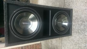 2 12in Infinity sub with power acoustic 2400w amp in Fort Campbell, Kentucky