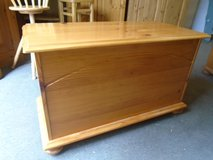 Pine toy/blanket box, trunk in Lakenheath, UK