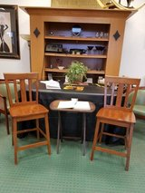 2 All wood slat back tall bar chairs in Chicago, Illinois