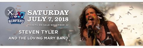 Steve Tyler Ribfest Tickets (2) in Bolingbrook, Illinois