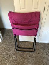 pink folding chair in Fort Bragg, North Carolina