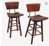 JUST REDUCED, MUST GO 2 slatted bar stools in Camp Lejeune, North Carolina