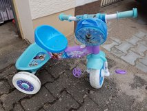 frozen tricycle in Ramstein, Germany