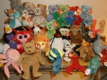 CLOSE TO 50 RARE AND VINTAGE BEANIE BABIES SOME WORTH MANY $ in Yucca Valley, California