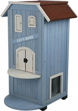 Trixie 3-Story Wooden Outdoor Cat Home, 37-in in Lockport, Illinois