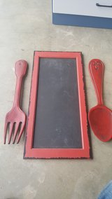 Chalkboard with utensils kitchen decor in Fort Carson, Colorado