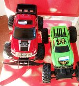 Green Monster Truck & Big Red Racing Truck in Alamogordo, New Mexico