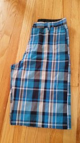 Burnside boys size 16 plaid shorts - like new in Naperville, Illinois