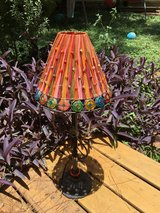 Beautiful lamp with iron base and colorful glass accents in The Woodlands, Texas